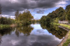 River Nore. HDR Photo of the River Nore in Kilkenny, Ireland Stock Photo