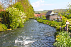 River in Normandy village Stock Images