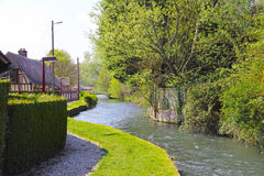 River in Normandy village Royalty Free Stock Photos