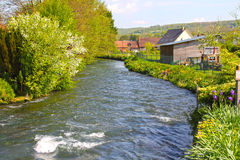 River in Normandy village Stock Photo