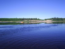 River in the north of Russia in the summer Royalty Free Stock Photography