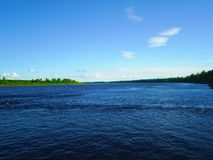 River in the north of Russia in the summer Stock Image