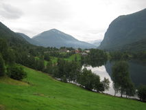 The river in Norway. The river in the mountains in Norway Stock Photo
