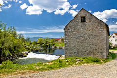 River Novcica in Town of Gospic. Lika region, Croatia Royalty Free Stock Photography