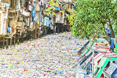 River Of Garbage Stock Images