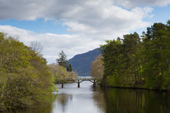 River Oich Fort Augustus Scotland UK Scottish Highlands popular tourist village next to Loch Ness Stock Photography