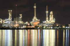 River and oil refinery factory Royalty Free Stock Photo