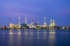 River and oil refinery factory. Thailand Royalty Free Stock Images