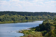 Free River Oka With The Trees On The Banks Royalty Free Stock Images - 60697249