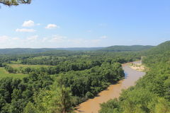 River. Oklahoma mountain view Royalty Free Stock Images