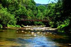 River. Old bridge over the river Stock Photography