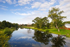 River in old russian town Suzdal Stock Image