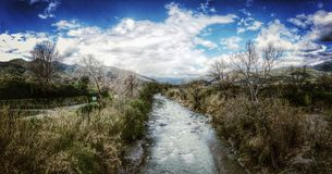The river. An old river in Sicily Royalty Free Stock Photos
