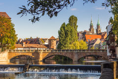 River in Old Town-Nuremberg-Germany Royalty Free Stock Photo