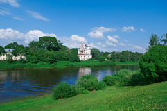 River in the old town Vologda Royalty Free Stock Images