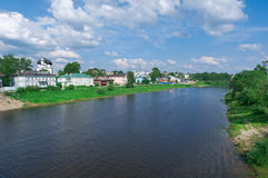 River in the old  town Vologda Stock Photos