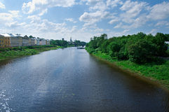 River in the old  town Vologda Royalty Free Stock Photo