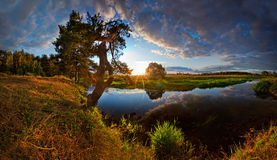 Free River On Sunset Stock Photography - 15738822