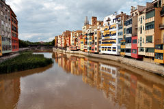 River Onyar in Girona Royalty Free Stock Image