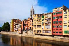 River Onyar in Girona. Catalonia Royalty Free Stock Photography