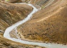 River in Orange Hills Kerlingarfjoll Iceland Royalty Free Stock Image