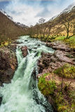 River Orchy in autumn Stock Photo