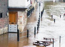 River Ouse flood Royalty Free Stock Photos