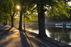 River Ouse in York. An evening view of the river Ouse in the city of York, England Stock Photos