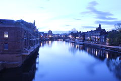 River Ouse York. Morning shot of the River Ouse in York Stock Image