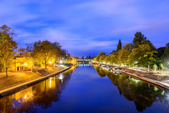 River Ouse York UK. Panoramic view of river Ouse in York, UK Stock Photo