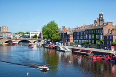 River Outhe in York, a city in England Royalty Free Stock Images