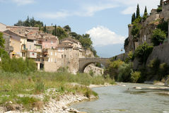 River Ouveze in Vaison-la-Romaine, France Royalty Free Stock Photography