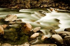 River over rocks. River running over rocks in Kings Canyon California Stock Images