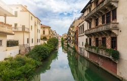 River in Padova, Italy. Houses on a river in Padova, Italy Royalty Free Stock Photography