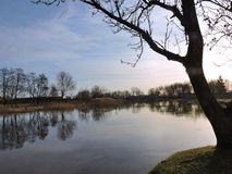 River Pakalne in autumn time, Lithuania Stock Photo