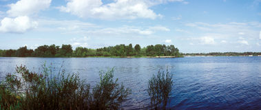 River panorama. Dnipro river, Kyiv region, Ukraine Stock Images