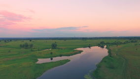 River panorama. 4k 30fps stock video footage