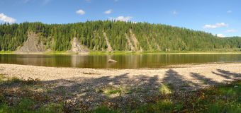 River panorama in a national Park in the Northern Urals. Stock Photography