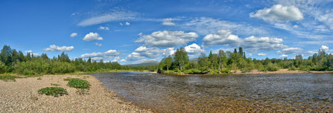 River panorama in the national Park Stock Images