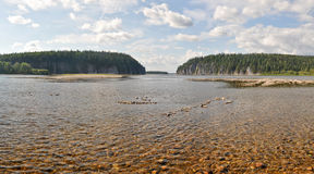 River panorama in the national Park Royalty Free Stock Image