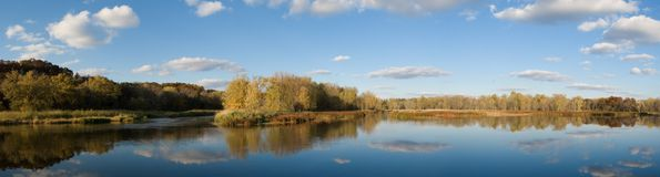 River Panoramic Royalty Free Stock Images