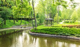 River in the park Royalty Free Stock Photography