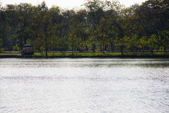River and park view Royalty Free Stock Photo