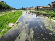 River, Parma, Italy. Parma River (Torrente Parma), Parma, Italy stock photos