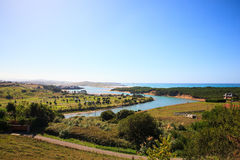 River Pas mouth, Cantabrian sea Royalty Free Stock Photography