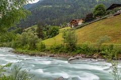At river Passer. Near Saint Martin, Passeier Valley, South Tyrol royalty free stock image