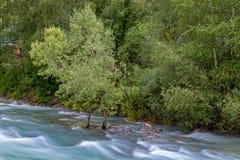 At river Passer. Near Saint Martin, Passeier Valley, South Tyrol stock photography
