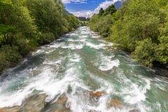 At river Passer. Near Saint Martin, Passeier Valley, South Tyrol stock photos