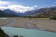 River in Patagonia Stock Photos
