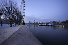 River path in London. Royalty Free Stock Photos